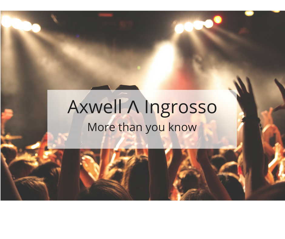 More Than You Know Axwell